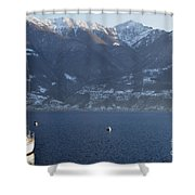 Sailing Boat On A Lake Shower Curtain