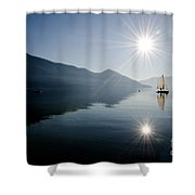 Sailing Boat On The Lake Shower Curtain