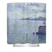 Sailing Boats In An Estuary Shower Curtain
