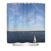 Sailing Charleston Harbor Shower Curtain