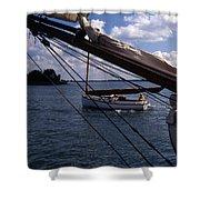 Sailing Coastal Maine Shower Curtain
