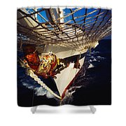 Sailing, Figurehead On The Prow Of A Shower Curtain