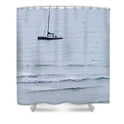 Sailing In For The Evening Shower Curtain