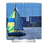 Sailing On Boston Harbor Shower Curtain