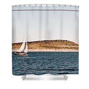 Sailing On Carter Lake Shower Curtain