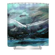 Sailing Over The Sea Shower Curtain