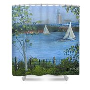 Sailing The Delaware Shower Curtain