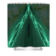 Sailing The Electric Green Sea Shower Curtain