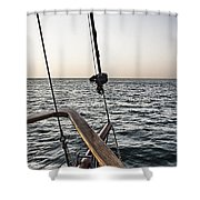 Sailing The Seas Shower Curtain