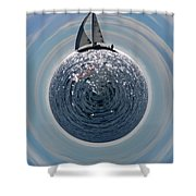 Sailing The World Shower Curtain
