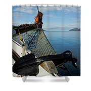 Sailing Through The Narrows Shower Curtain