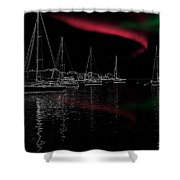 Sailing Under Strange Lights Shower Curtain