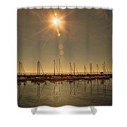 Sailing Under The Sun White Rock Bc Shower Curtain