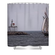 Sailing Vessel Entering Gloucester Shower Curtain