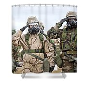 Sailors Dressed In Full Mission Shower Curtain