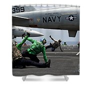 Sailors Give Launch Approval For An Shower Curtain