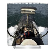 Sailors Stand Watch From The Bridge Shower Curtain