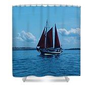 Sails Off The San Juans Shower Curtain