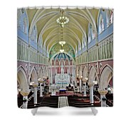 Saint Bridgets Gothic Church Shower Curtain