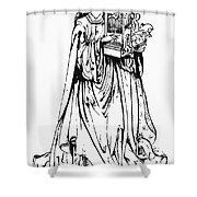 Saint Cecilia Shower Curtain by Granger