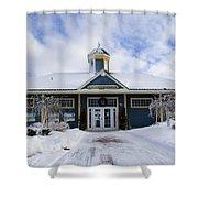 Saint John River Centre Shower Curtain