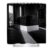 Saint Louis Soldiers Memorial Black And White Shower Curtain