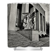 Saint Louis Soldiers Memorial Exterior Black And White Shower Curtain