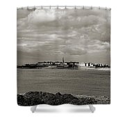 Saint-malo From Dinard. Shower Curtain