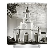 Saint Martin De Tours - Sepia Shower Curtain