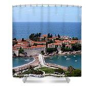 Saint Stephen In Montenegro Shower Curtain