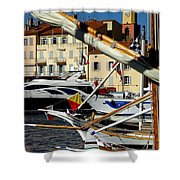 Saint Tropez Harbor Shower Curtain