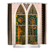 Saints In The Window Shower Curtain