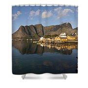 Sakrisoy Fishermen's Village II Shower Curtain
