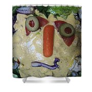 Salad Man Is Confused Shower Curtain