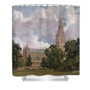 Salisbury Cathedral From The South West Shower Curtain