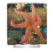 Sally Starfish Shower Curtain