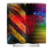 Sallys Road  Shower Curtain