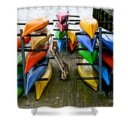 Salma Kayaks Shower Curtain