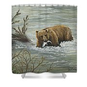 Salmon For Lunch Shower Curtain