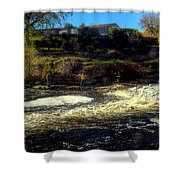 Salmon Pool Shower Curtain