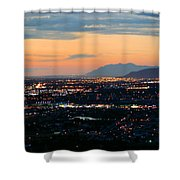 Salt Lake Nightscape Shower Curtain