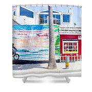 Salt Water Taffy Panorama Balboa California Shower Curtain