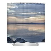 Salton Sea Sunset Shower Curtain