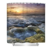Salty Pool Shower Curtain