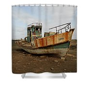 Salty Remains Shower Curtain