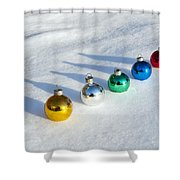 Salute To The Holidays Shower Curtain