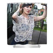 Sam11 Shower Curtain