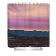 Sams Valley Panoramic Sunset Shower Curtain