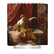 Samson And Delilah Shower Curtain
