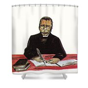 Samuel Ajayi Crowther Shower Curtain by Emmanuel Baliyanga